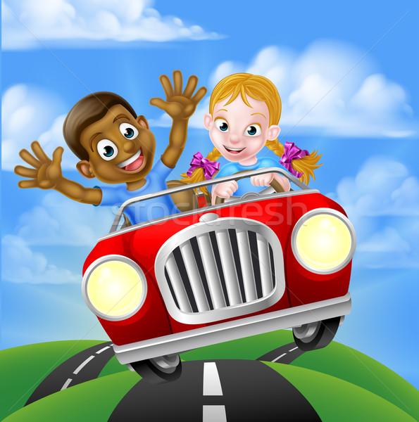 Children Driving Car Stock photo © Krisdog