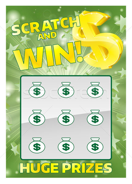 Lottery Instant Scratch Card Stock photo © Krisdog