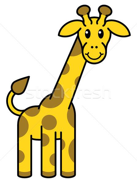 Rajz zsiráf állat rajzfilmfigura kabala könyv Stock fotó © Krisdog