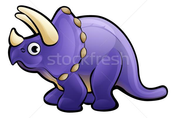 Triceratops Dinosaur Cartoon Character Stock photo © Krisdog