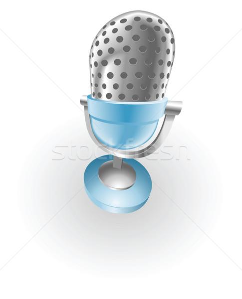 blue microphone illustration Stock photo © Krisdog