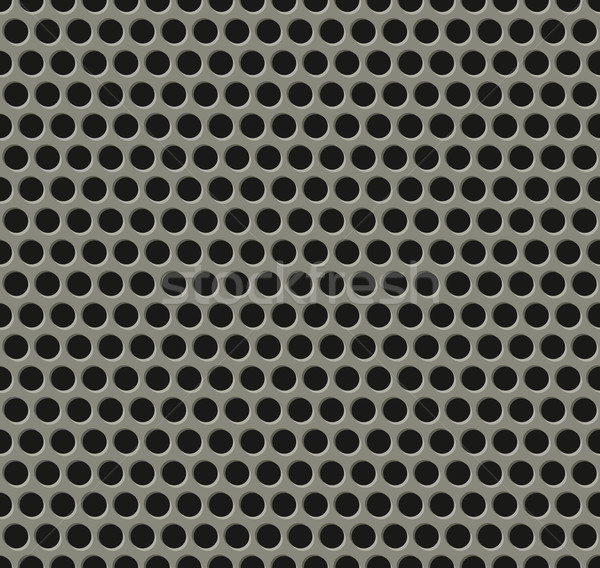Seamless tiling metal grill pattern Stock photo © Krisdog
