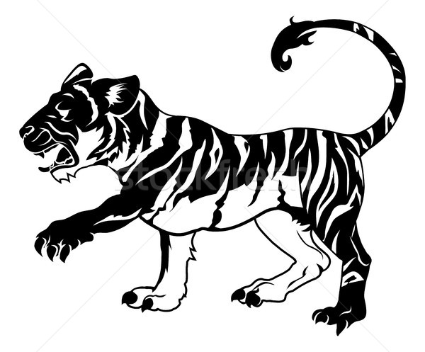 Stylised tiger illustration Stock photo © Krisdog