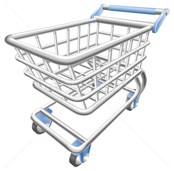 A shiny shopping cart trolley vector illustration  Stock photo © Krisdog