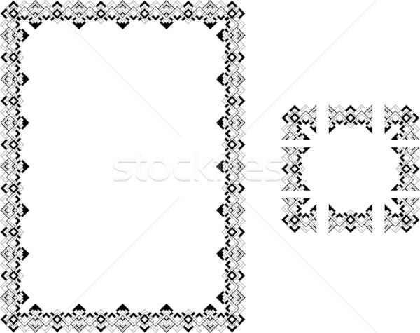 アールデコ スタイル 国境 フレーム コンポーネント ストックフォト © Krisdog