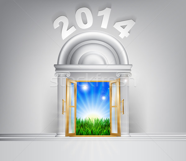 New Year Hope Door Concept 2014 Stock photo © Krisdog