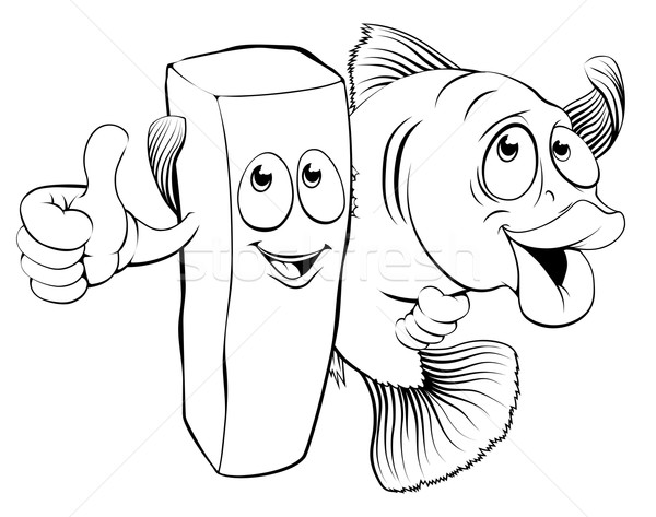 Poissons puces illustration mascotte bras Photo stock © Krisdog