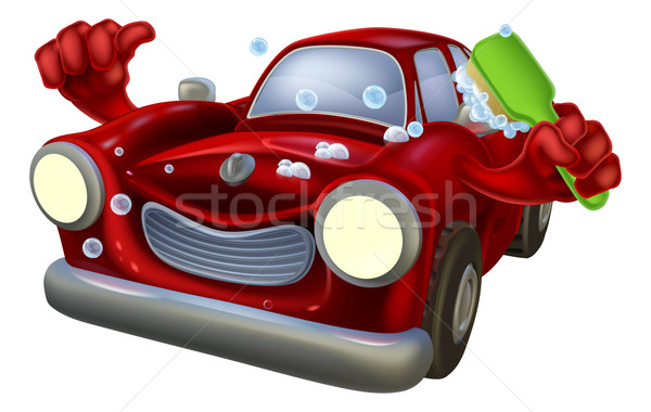 Cartoon car wash Stock photo © Krisdog