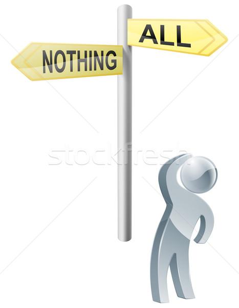 Alle niets keuze illustratie man Stockfoto © Krisdog