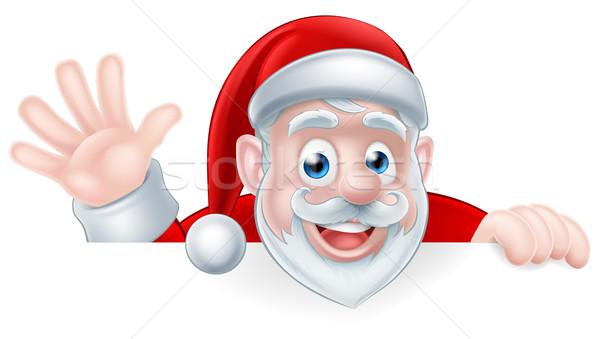 Cartoon Santa Waving Stock photo © Krisdog