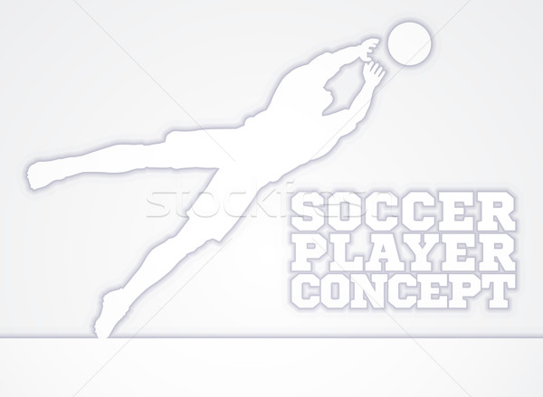 Plongée objectif silhouette footballeur illustration football Photo stock © Krisdog