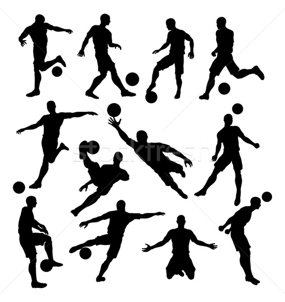 Soccer Player Silhouettes Stock photo © Krisdog