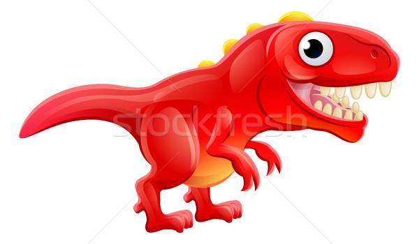 Stok fotoğraf: Sevimli · karikatür · dinozor · karakter · çocuklar · mutlu