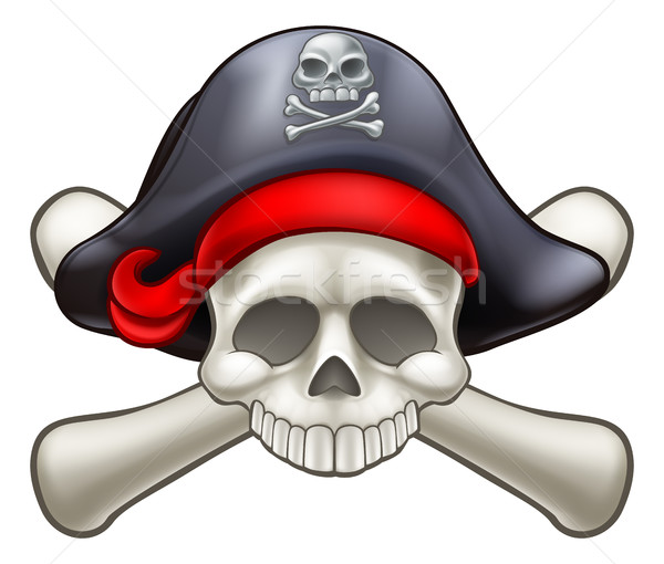 Stock photo: Pirate Skull and Crossbones