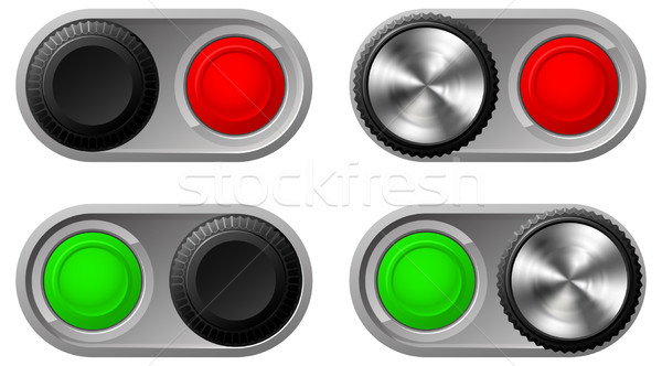 Toggle switches with green and red lights Stock photo © Krisdog