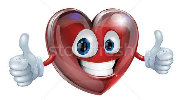 Heart mascot graphic Stock photo © Krisdog