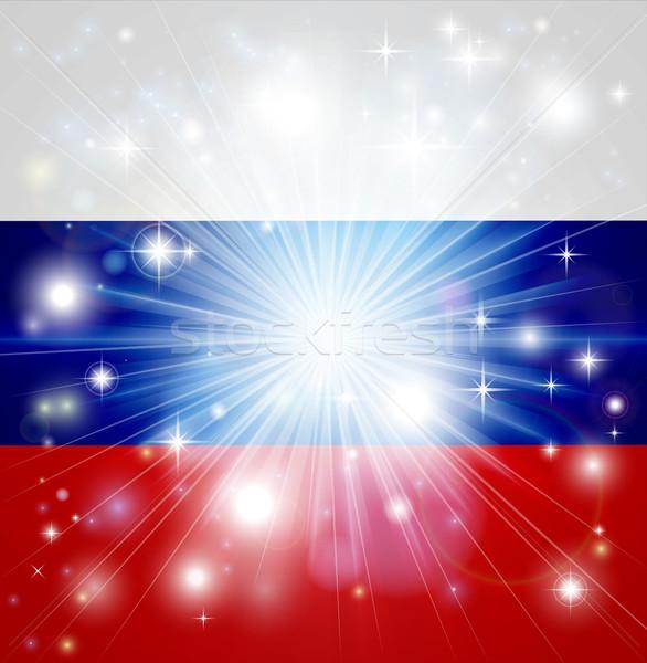 Russian flag background Stock photo © Krisdog