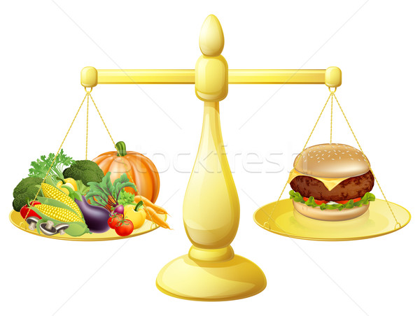 Healthy eating diet decision Stock photo © Krisdog