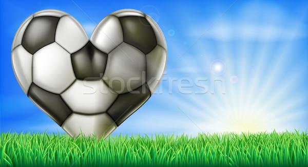 Heart shaped football ball Stock photo © Krisdog