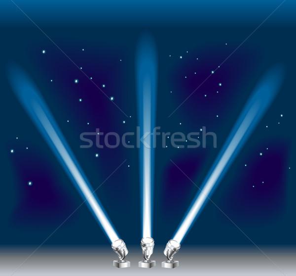 searchlight illustration Stock photo © Krisdog