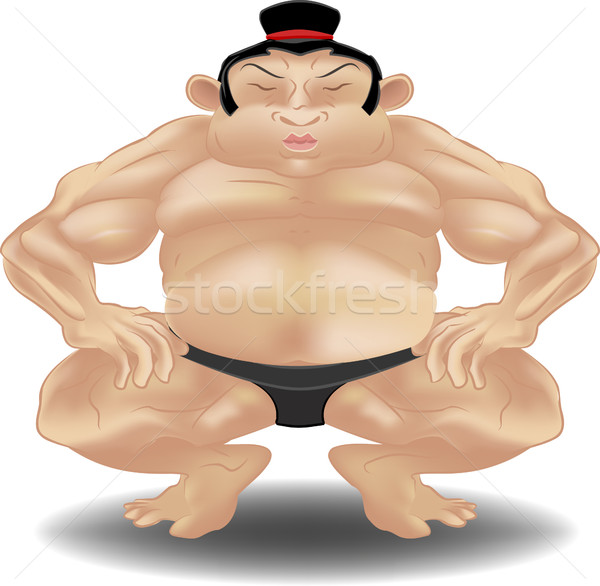 sumo westler illustration Stock photo © Krisdog