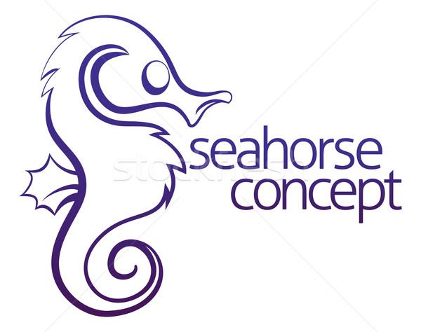 Seahorse concept Stock photo © Krisdog