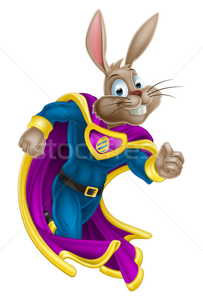 Easter Bunny Super Hero Stock photo © Krisdog