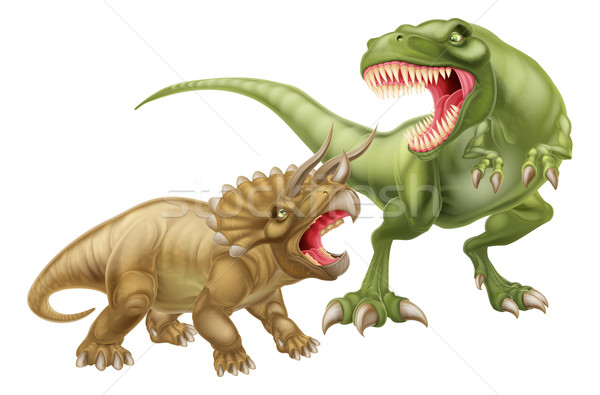 T Rex Versus Triceratops Stock photo © Krisdog