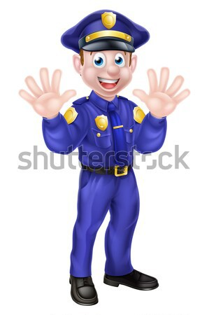 Cartoon policjant ilustracja cute charakter Zdjęcia stock © Krisdog