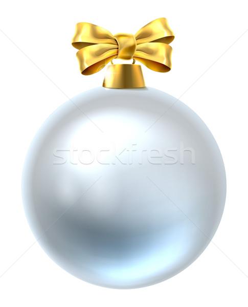 Рождества безделушка иллюстрация рождественская елка украшение орнамент Сток-фото © Krisdog