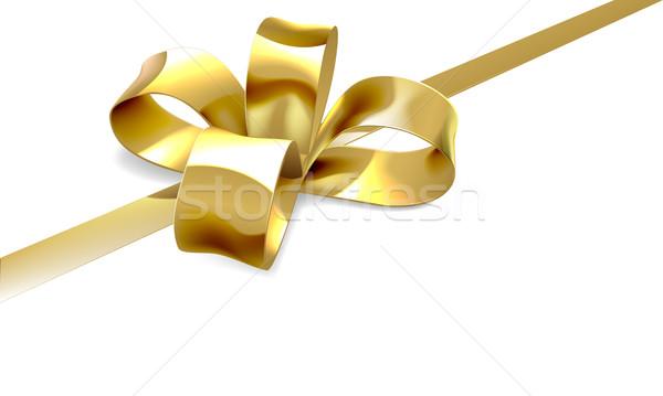 Gold Bow Gift Background Stock photo © Krisdog