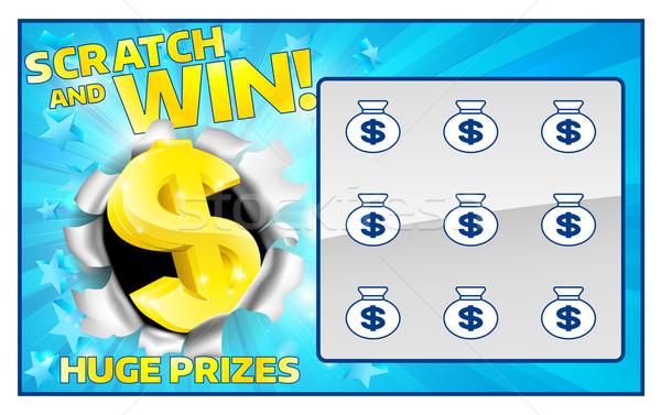 Loteria podstaw karty natychmiastowy wygrać podpisania Zdjęcia stock © Krisdog
