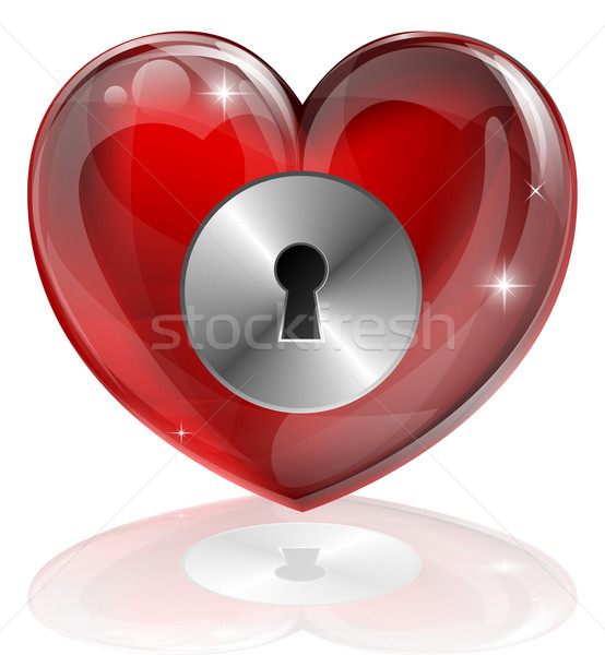 Coeur lock illustration serrure solitude Photo stock © Krisdog