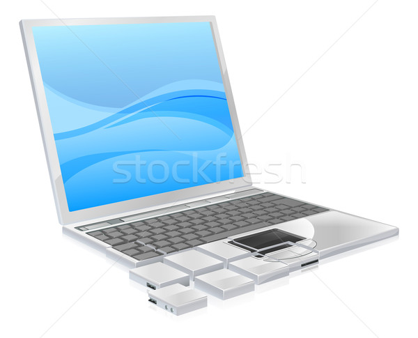 Laptop pieces concept Stock photo © Krisdog