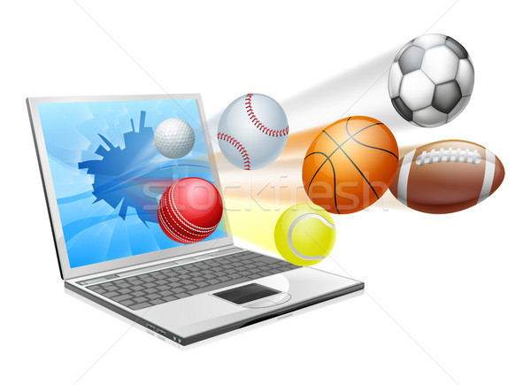 Sports laptop app concept Stock photo © Krisdog