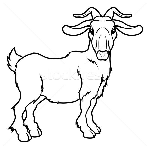 Stylised goat illustration Stock photo © Krisdog