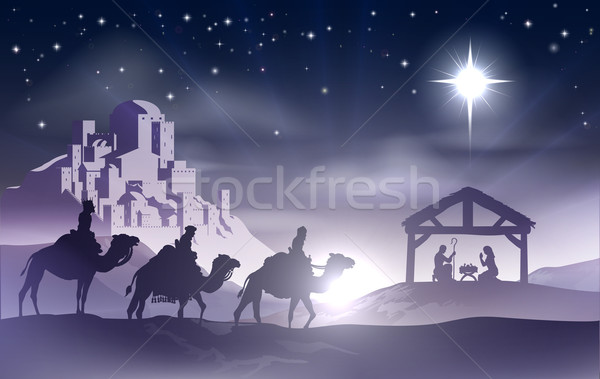 Nativity Christmas Scene Stock photo © Krisdog