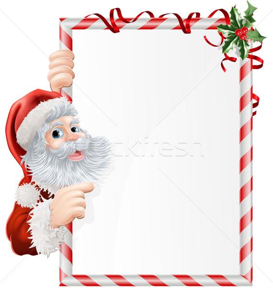Christmas Santa Sign Stock photo © Krisdog