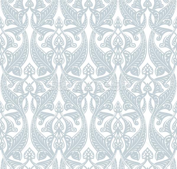 Art noveau ilustração padrão flores textura Foto stock © Krisdog