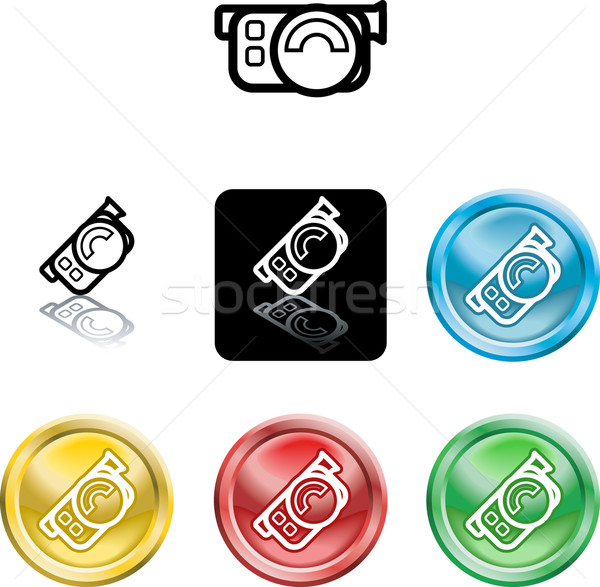 movie camera icon symbol Stock photo © Krisdog