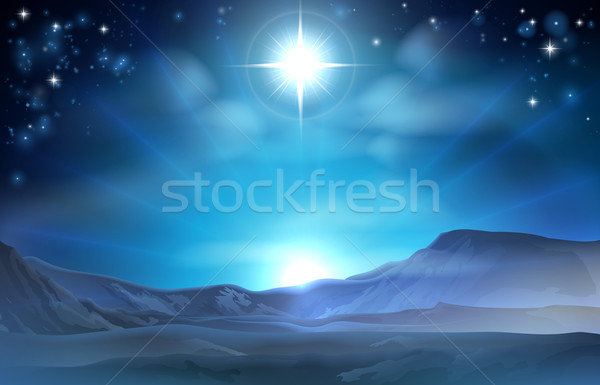 Christmas Nativity Star of Bethlehem Stock photo © Krisdog