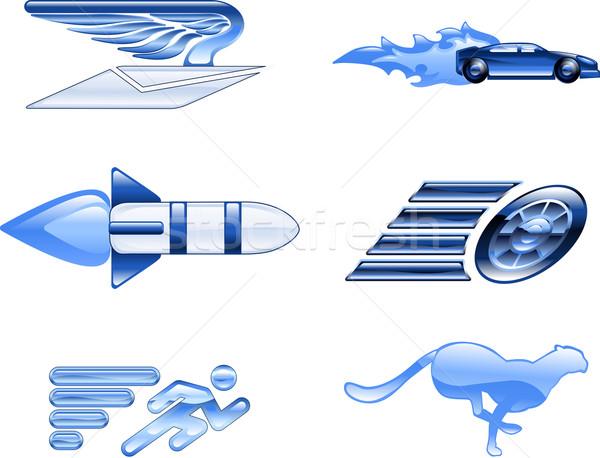Hızlandırmak dizayn elemanları hızlı Stok fotoğraf © Krisdog