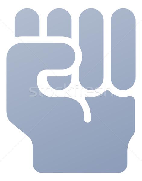 Poing icône illustration main geste violence Photo stock © Krisdog