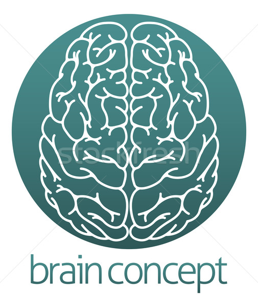 Abstract brain circle Stock photo © Krisdog