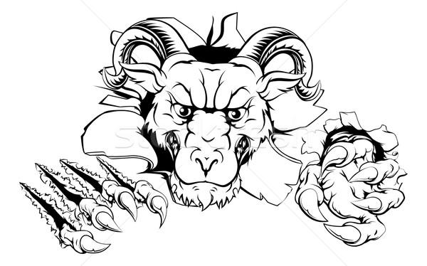 Ram character smashing out Stock photo © Krisdog
