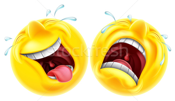 Theatre comedy tragedy emoji Stock photo © Krisdog