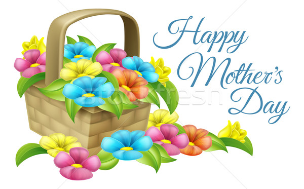 Happy Mothers Day Flower Basket Stock photo © Krisdog