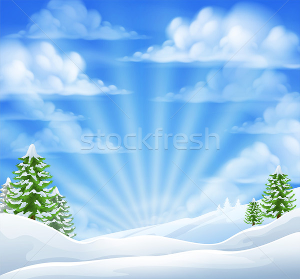 Christmas Snow Winter Background Stock photo © Krisdog