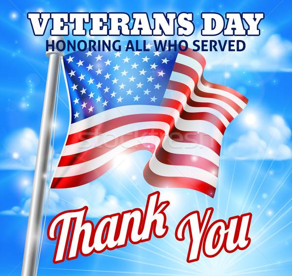 Nap amerikai zászló terv összes felszolgált ünnep Stock fotó © Krisdog