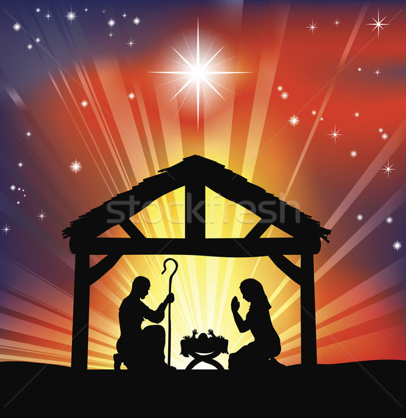 Traditional Christian Christmas Nativity Scene Stock photo © Krisdog